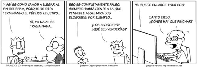 Tira Ecol 245: Spam para bloguers