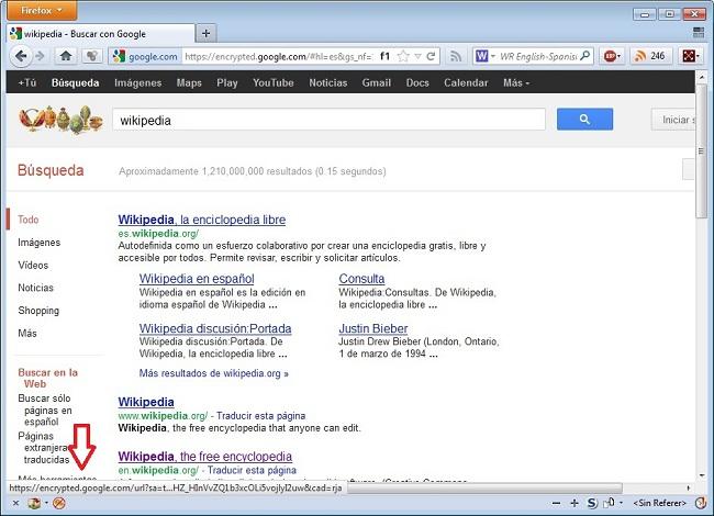 Búsqueda Google: Enlace cambiado